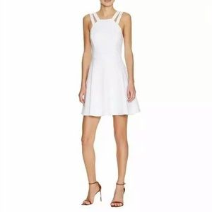 NEW French Connection High Neck Skater Dress White